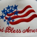 God Bless America Cap Embroidery
