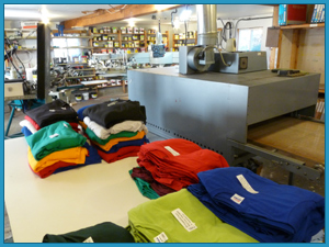 Production Area at Maine Printing and Embroidery