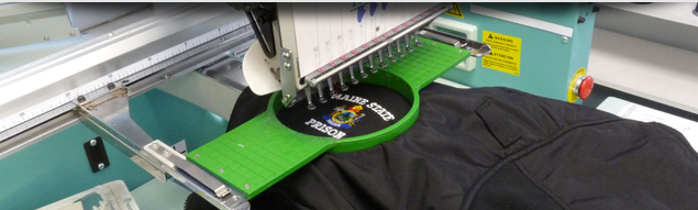 Single Head Embroidery Machine In Action