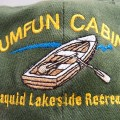 sumfun cabins, embroiedered cap