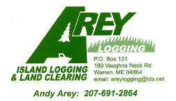 Arey Logging Business Card