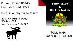 Bullwindles & The Bog Tavern Business Card