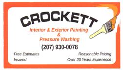Crockett Painting Business Card
