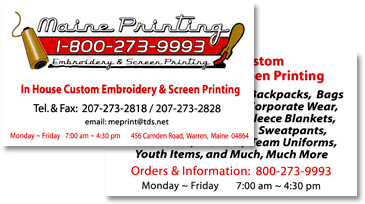 Business Cards  Maine Printing Amp Embroidery