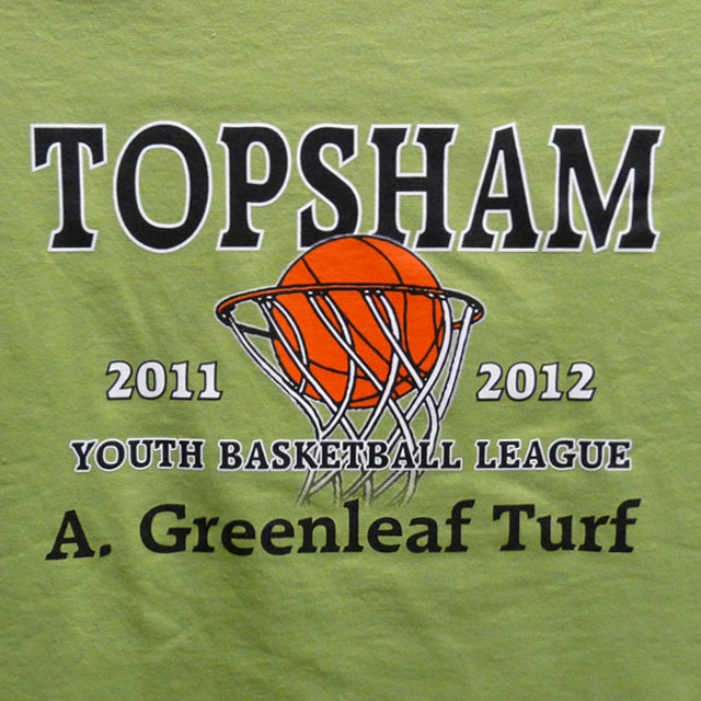 Topsham Youth Basketball 2011 Team Shirts
