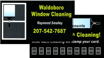 Waldoboro Window Cleaning Business Card