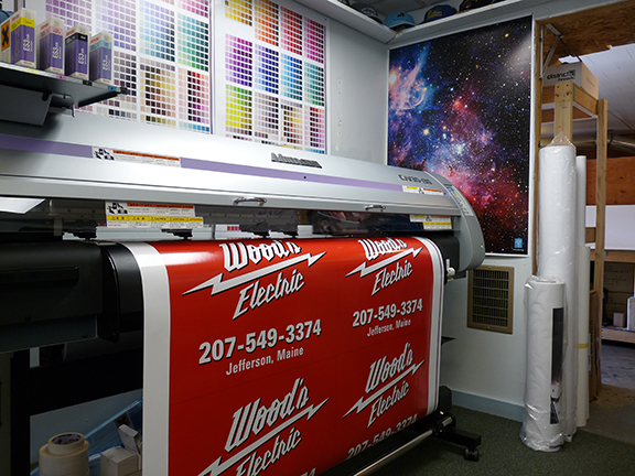 Woods Electric Site Signs, Maine Printing and Embroidery