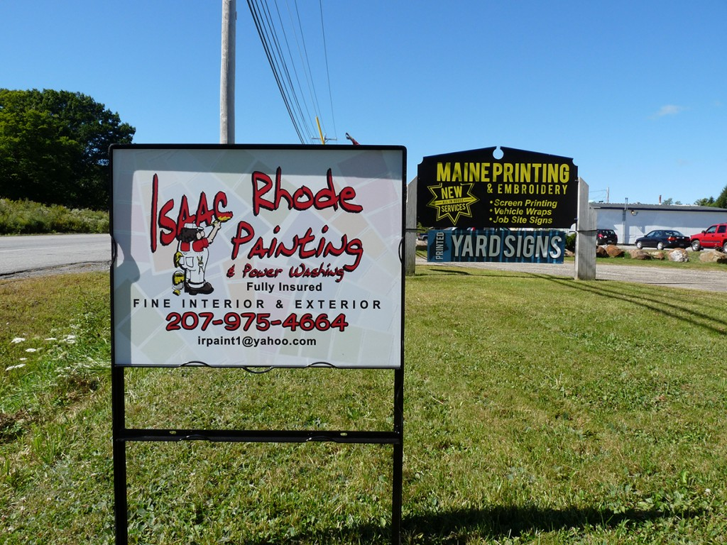Site Sign, Yard Sign, Issac Rhode, Maine Printing And Embroidery